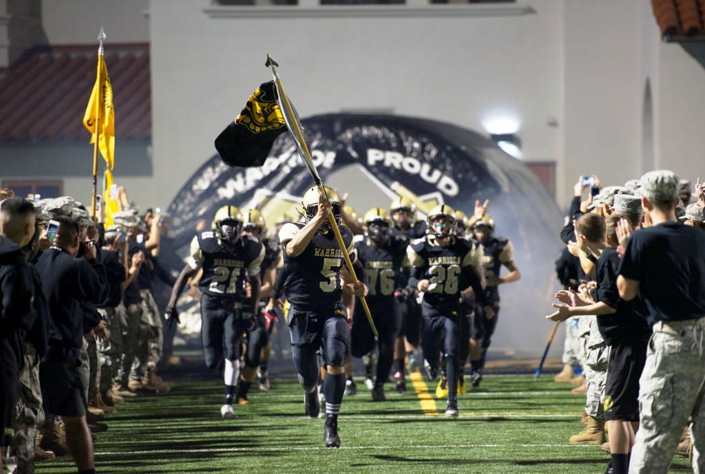 Army and Navy Academy Football Team in CIF Playoffs