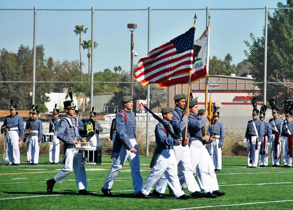 The color guard is an integral piece of any JROTC military boarding school
