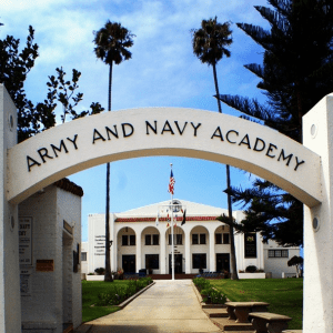 Entrance at Army & Navy Academy!