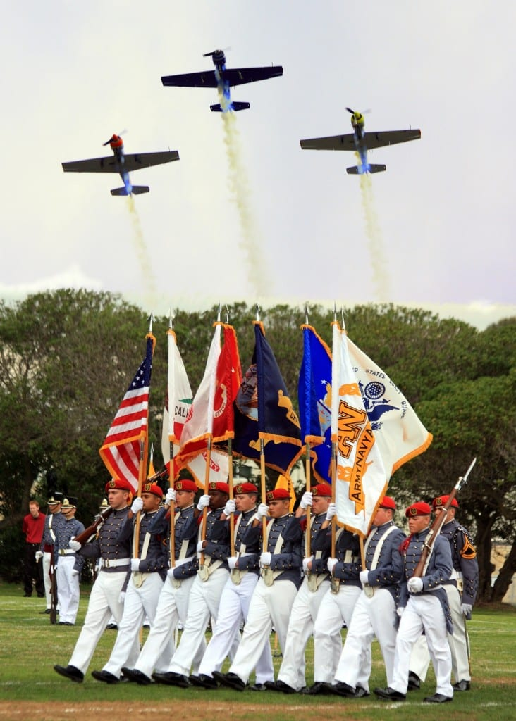 Flyover at Carlsbad Veterans Day Parade