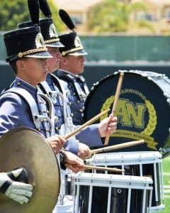 High school marching band in Carlsbad, California