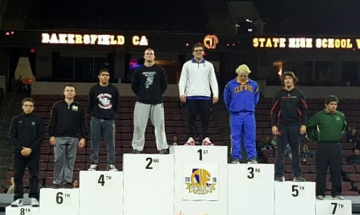 Zachary Schrader '16 Places 6th in California State Wrestling Championship