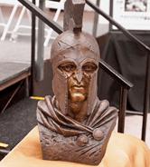 Senior Class Honors their School with a Striking Spartan Warrior Bronze Bust