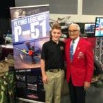 Cadet Beck Milner and Col Charles McGee, USAF (Ret)