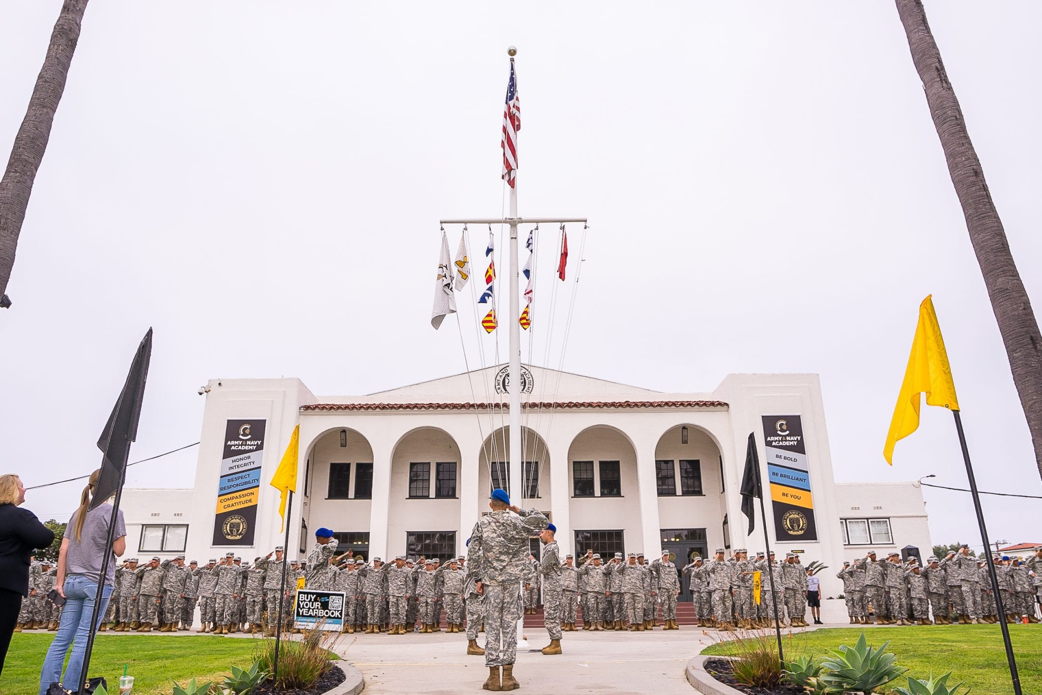 Flag Salute during Morning Colors